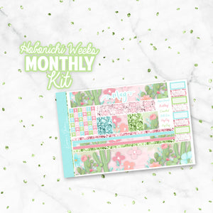"May ""Succulove"" Hobonichi Weeks Monthly Kit"