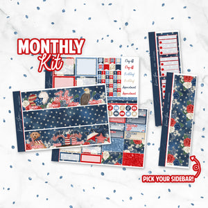 "July ""Stars + Stripes"" Monthly Overview Kit"