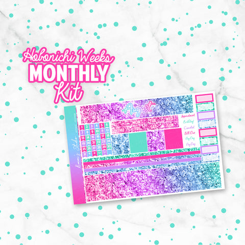 "August ""Mermaid Glitter"" HOBONICHI Weeks Monthly Kit"