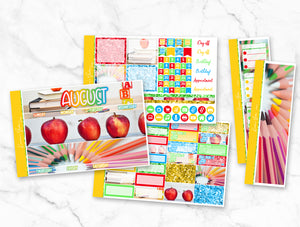 "August ""Back to School"" Monthly Overview Kit"
