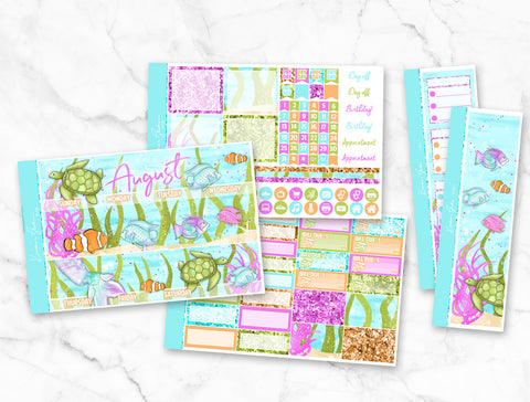 "August ""Mermaid Wishes"" Monthly Overview Kit"