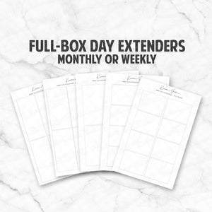 DAY EXTENDERS - Monthly / Weekly Full Boxes