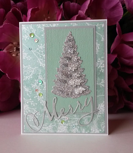 Glimmer Tree - Green & White