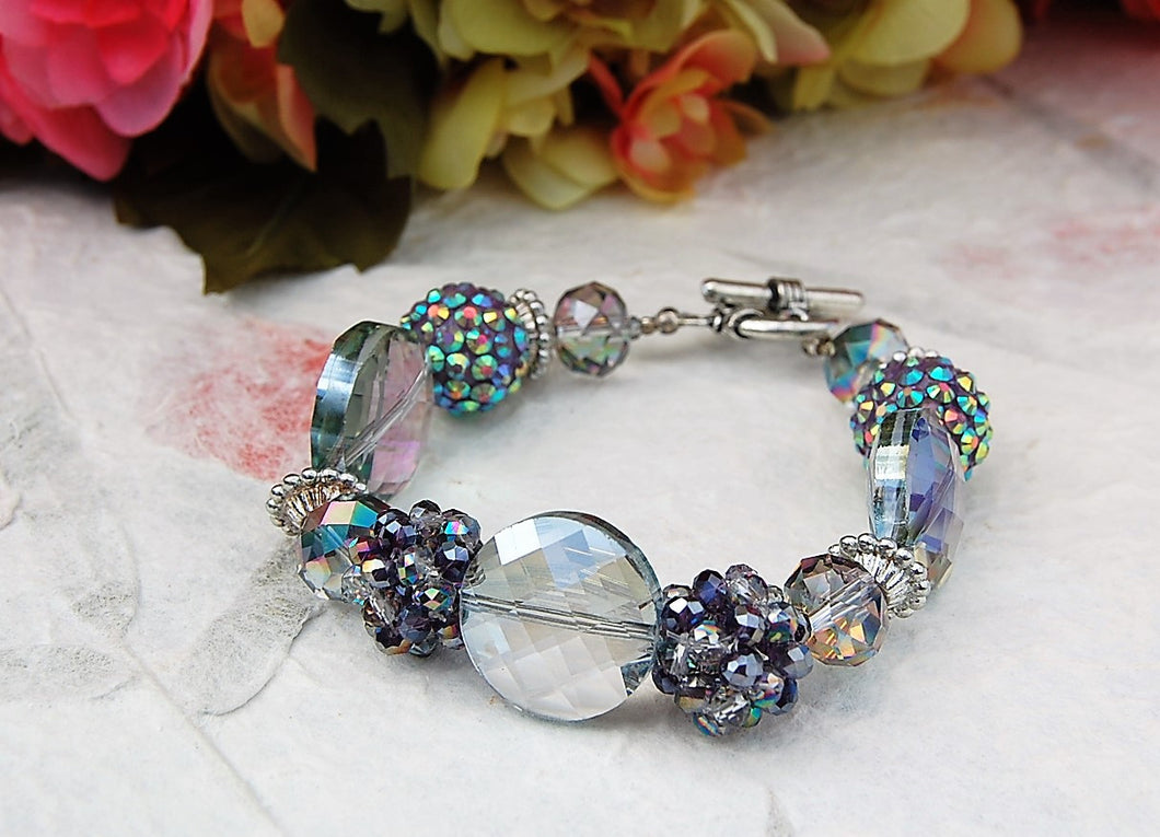 Clear with Clusters Bracelet