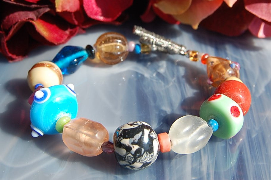 Multi-color Lampwork Bracelet