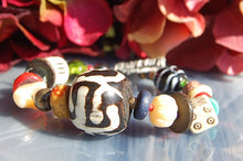 Glass & Wooden Bead Bracelet