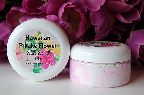 Hawaiian Pikake Flower Salt Scrub - 6 oz
