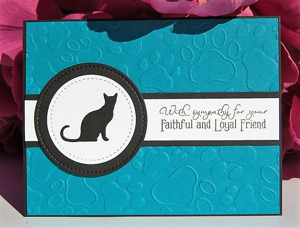 Faithful Friend - Cat - Turquoise