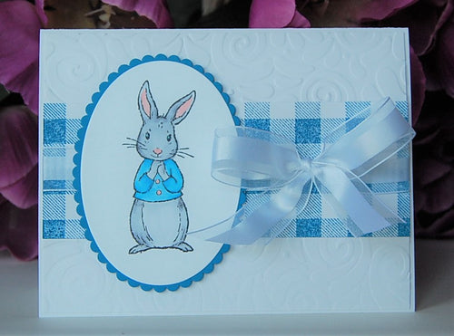 Blue Gingham Bunny
