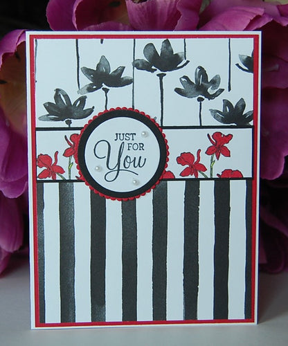 Black Stripes - Red Flowers - Just For You
