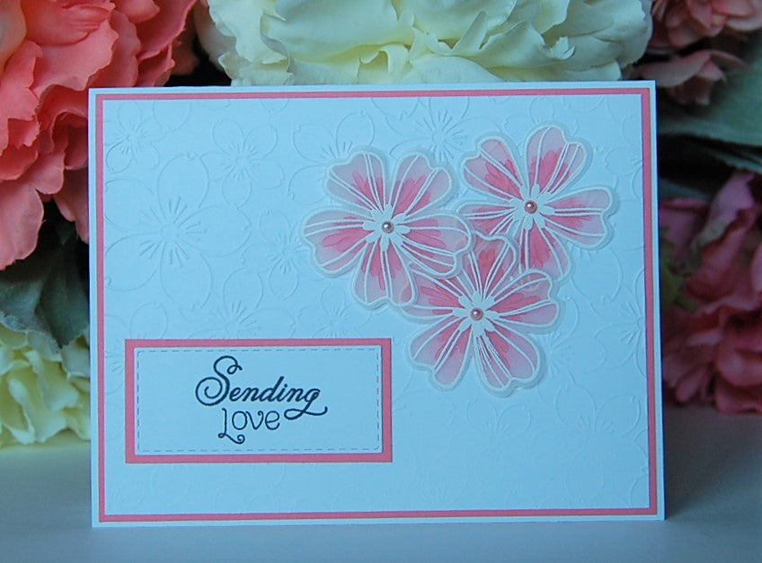 Vellum Flowers - Sending Love - Salmon