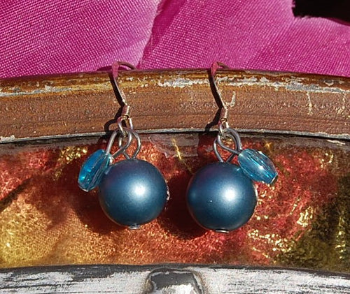 Steel Blue Earrings