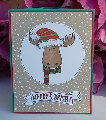 Merry & Bright Moose - Tan