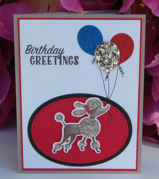 Birthday Greetings - Poodle