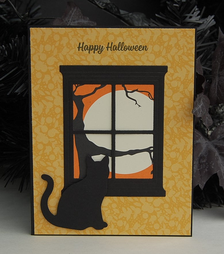 Happy Halloween Cat/Window