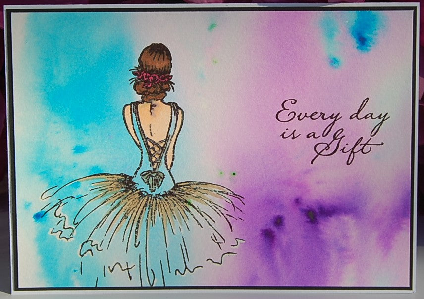 Watercolor Ballerina #87