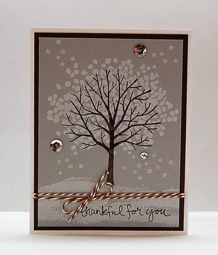 Winter Tree - thankful for you - Twine