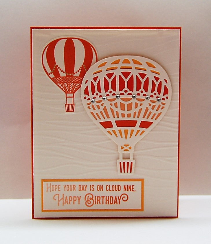 Hot Air Balloons - Peach & Orange - Cloud Nine