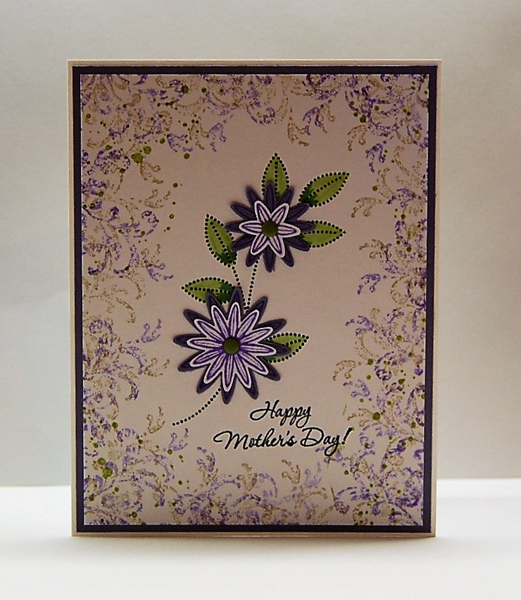 Floral - Purple & Green - Happy Mother's Day