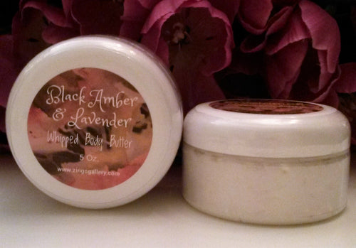 Black Amber & Lavender Whipped Body Butter - 5 oz