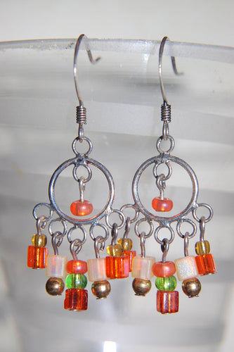 Chandelier Orange Earrings
