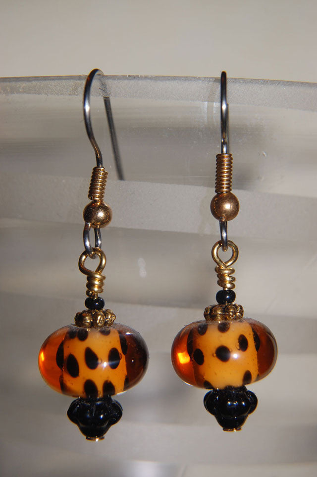 Dotted Amber Earrings