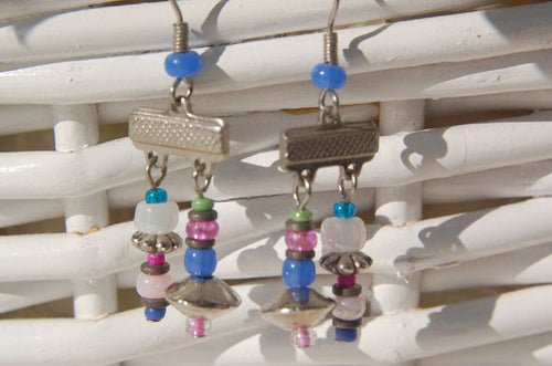 Pink & Blue Earrings