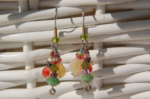 Green & Orange Earrings