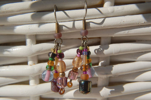 Green & Amber Earrings