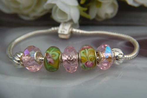 Large Hole Beads - Pink Dione & Lampwork