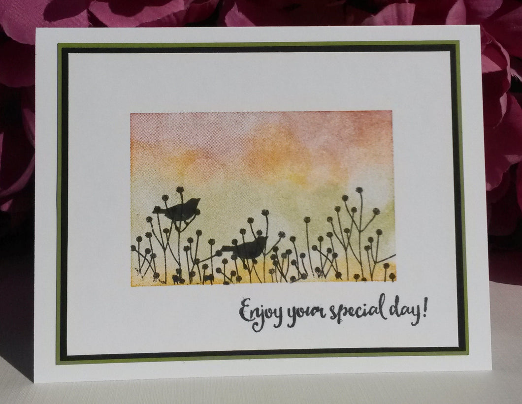 Sunset Birds Silhouette - Enjoy your special day!