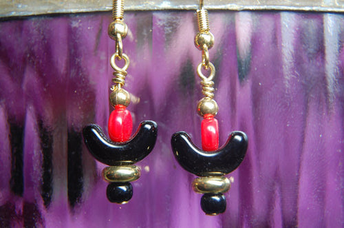 Red/Black Earrings