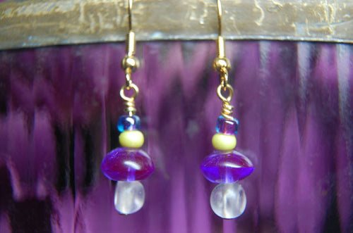 Purple/Yellow Earrings