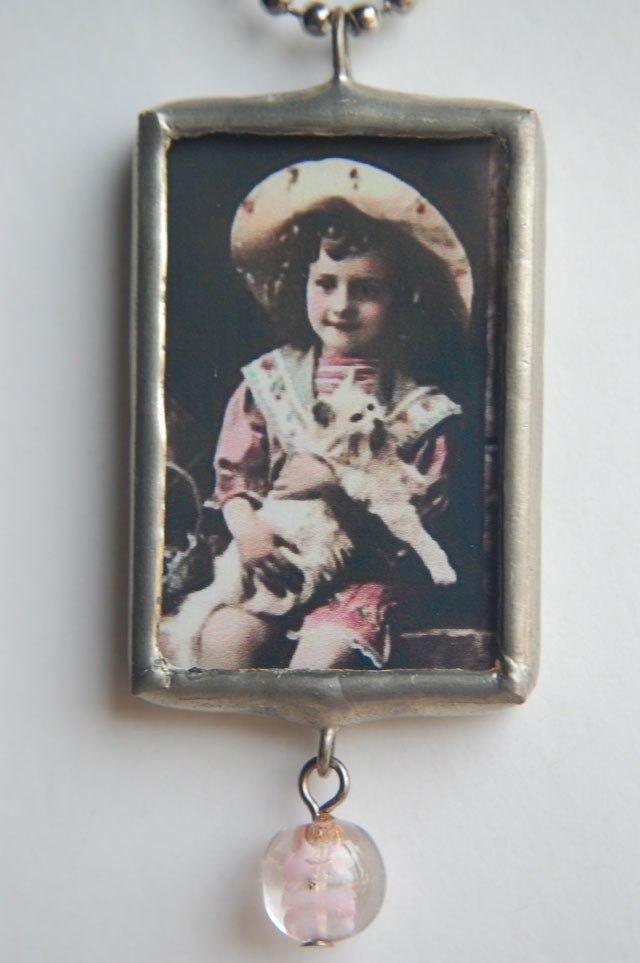 Art Collage Pendant - If You Want A Kitten