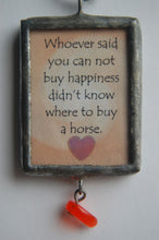 Art Collage Pendant - Can't Buy Happiness