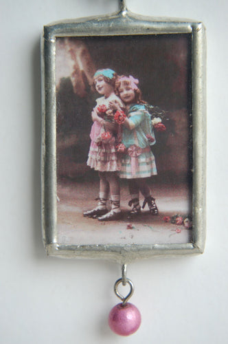 Art Collage Pendant - Best Thing About A Sister