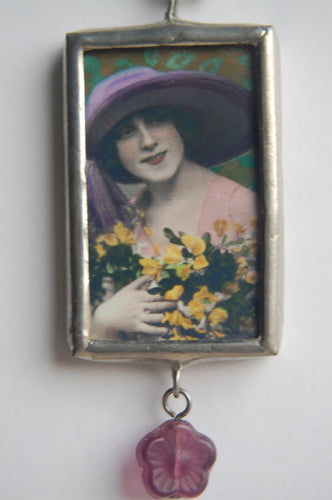 Art Collage Pendant - I Can Wear A Hat