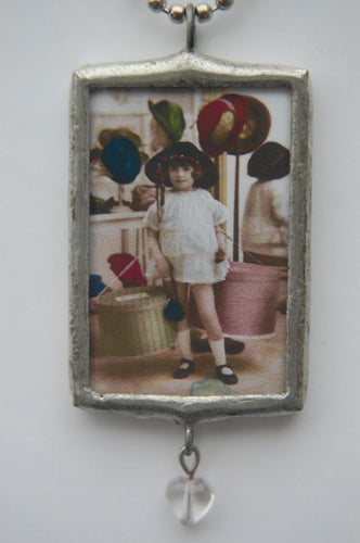 Art Collage Pendant - My Mother Insisted