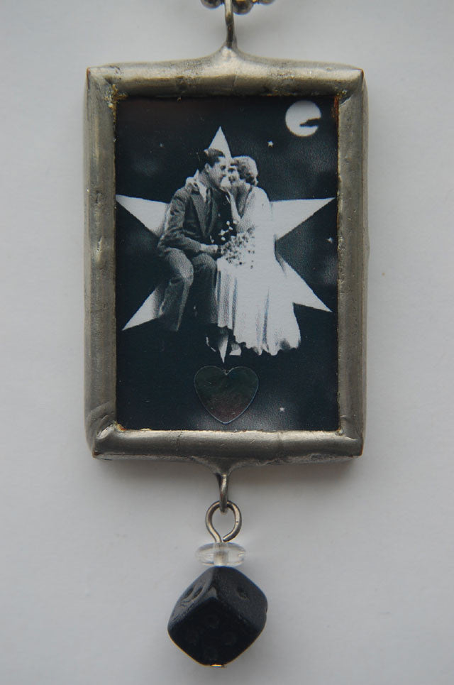 Art Collage Pendant - The Altar
