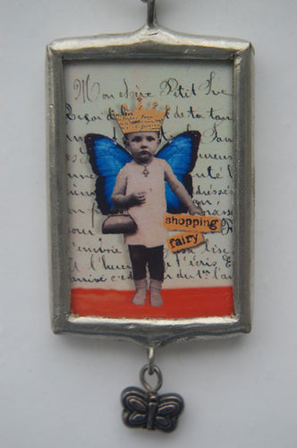 Art Collage Pendant - Shopping Is Cheaper