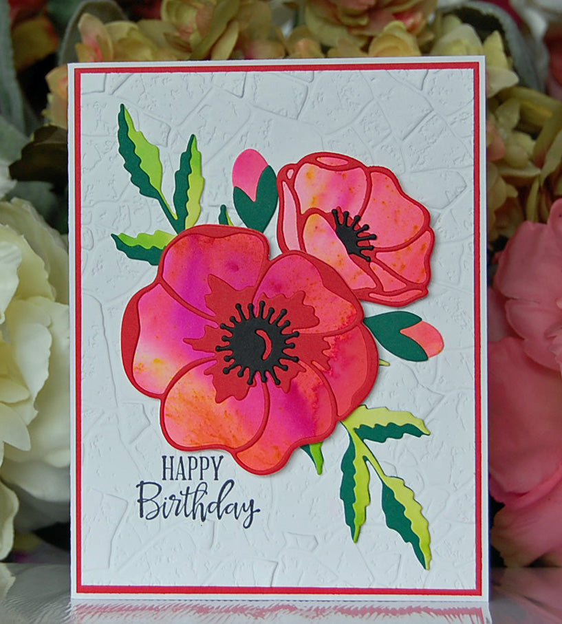 Red Poppies - Happy Birthday