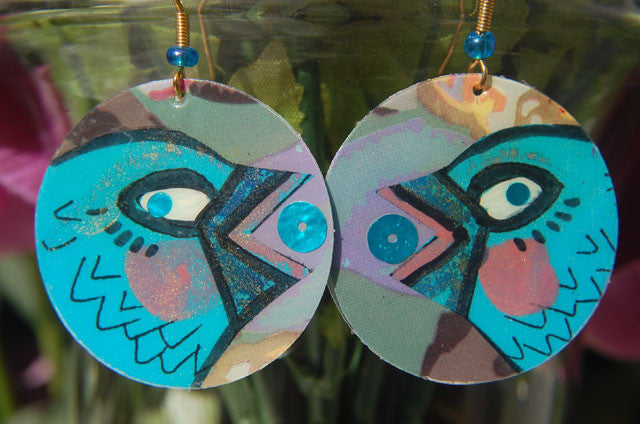 Watercolor Earrings - Chickaroo - Blue
