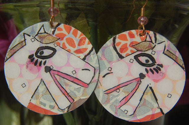 Watercolor Earrings - Whinny - White