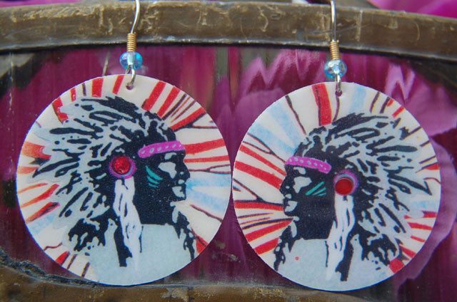 Watercolor Earrings - Chief - Blue