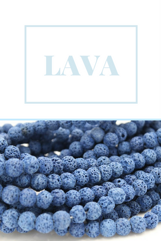 lava beads with title