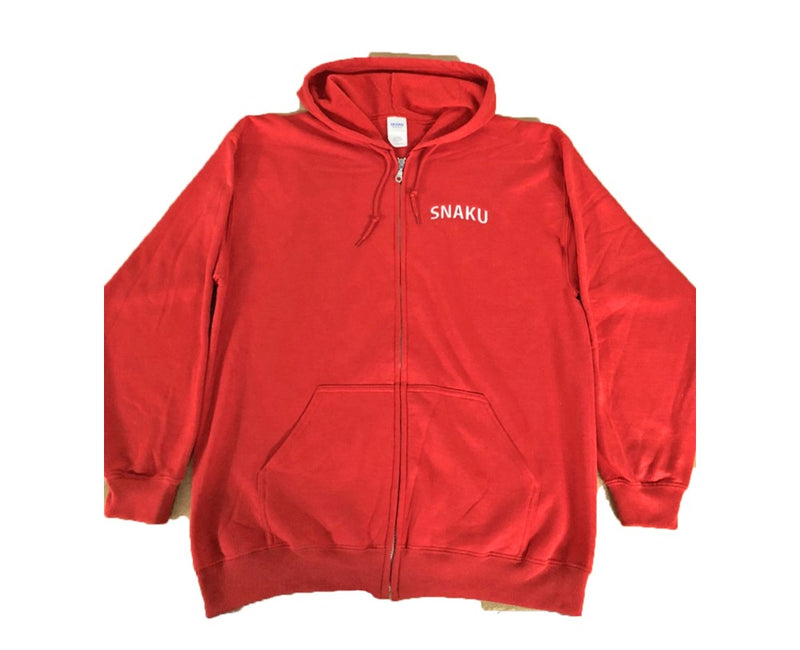SNAKU Red Zip Up Hoodie
