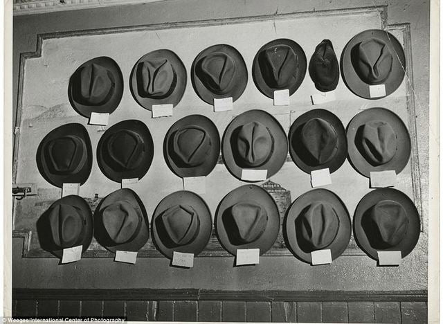 Vintage Photo Hat Creases