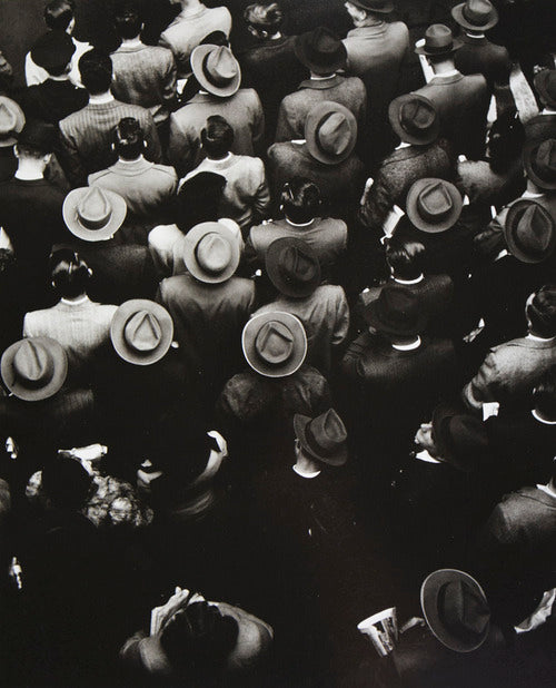 Vintage Photo Hats In A Crowd