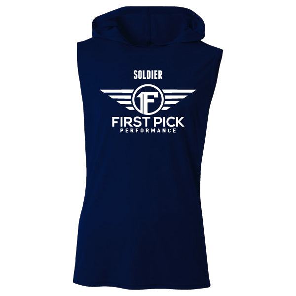 FIRST PICK SLEEVELESS HOODIE