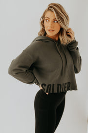 WOMEN'S SOLDIER CROPPED HOODIE